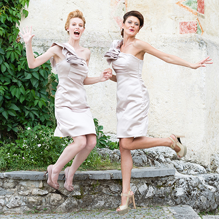 how to survive a wedding when you're single - girls jumping in the air - evening bag - handbag