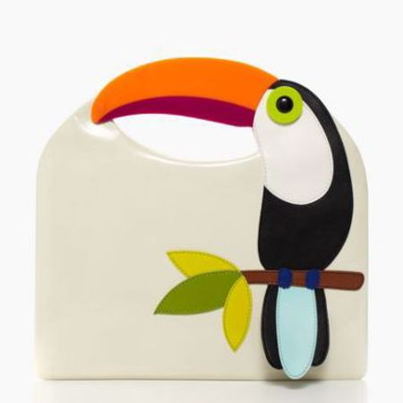 kate spade fine feather tansi - best tropical bags - shopping bag - handbag