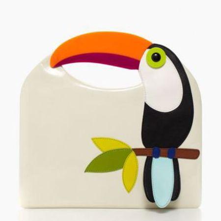 kate spade fine feather tansi - best tropical bags - shopping bag - handbag