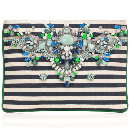 Marseille Heavy Gem ZipTop Clutch Bag - wedding guest clutch bags - shopping bag - handbag