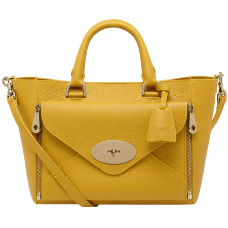 mulberry-golden yellow-willow tote bag-mustard-colourful bag-designer handbag-summer 2014-handbag.com