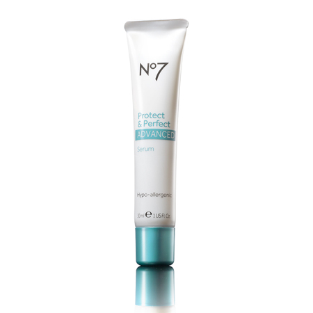 No7 protect and perfect serum - handbaghero - beauty bag - handbag