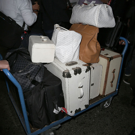 Pamela Anderson's suitcases