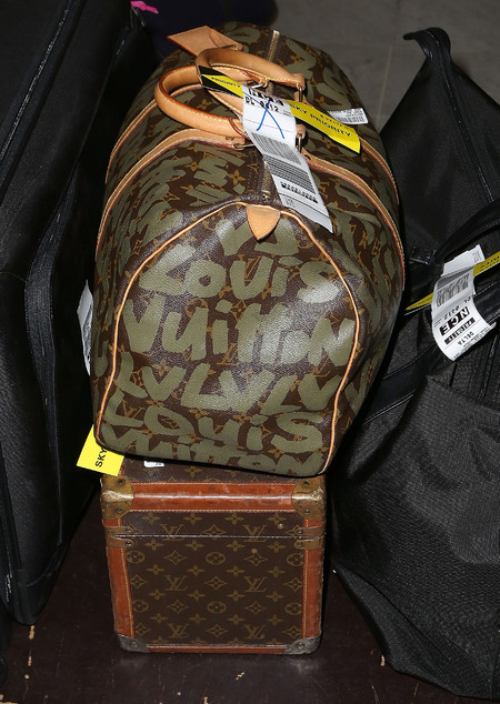Jane Fonda's Louis Vuitton luggage