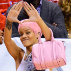 Rihanna's all over the pink trend