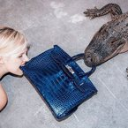 Artist feeds $100,000 Birkin bag to an alligator