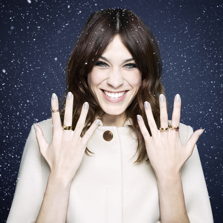 Alexa Snow globe - alexa chung is the new face of nails inc - beauty bag - handbag
