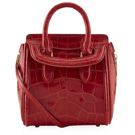 Alexander McQueen bag - red croc Heroine bag - handbag economics - trip to space with Leonardo DiCaprio - handbag.com