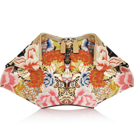 Alexander MCQueen floral clutch bag - buy it on your break - The De Manta printed satin clutch - summer fashion trends - shopping bag - handbag.com
