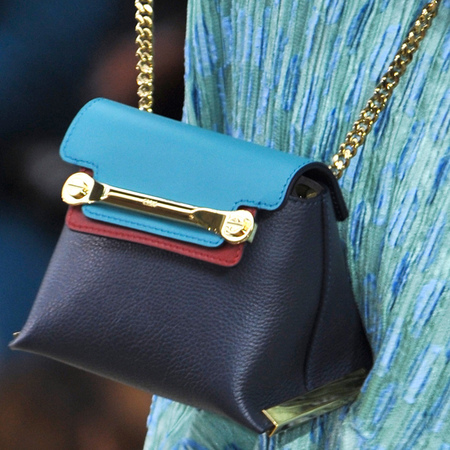 chloe-claire mini bag-blue and navy leather-spring summer 2014 handbag collection-handbag.com