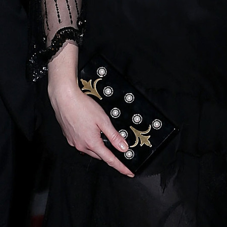 Christina Hendricks' embellished Thalé Blanc clutch