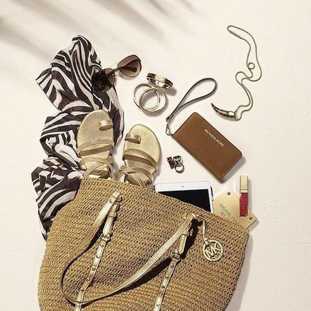 michael kors-straw basket handbag-summer holiday bags-handbag.com