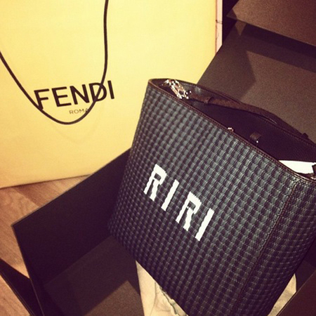 rihanna personalised fendi - designer brands that let you customise accessories - shopping bag - handbag