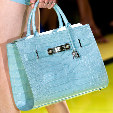versace-handbag-blue-python-spring summer 2014-milan fashion week-handbag.com
