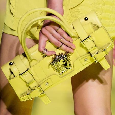 Folded yellow Palazzo Bag