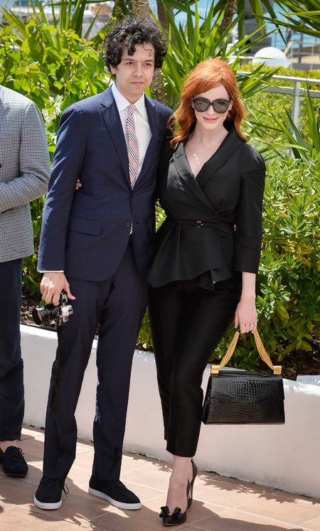 christina hendricks black handbag cannes 2014 - shopping bag - handbag