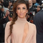Eva Longoria nearly flashes at Cannes