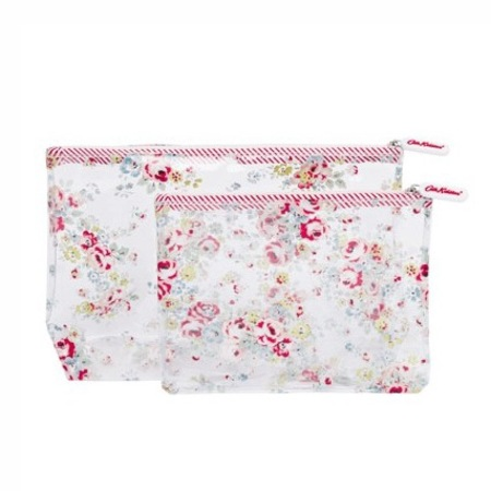 Cath Kidston - notting hill rose - clear travel make up bag - set of two - handbag.com