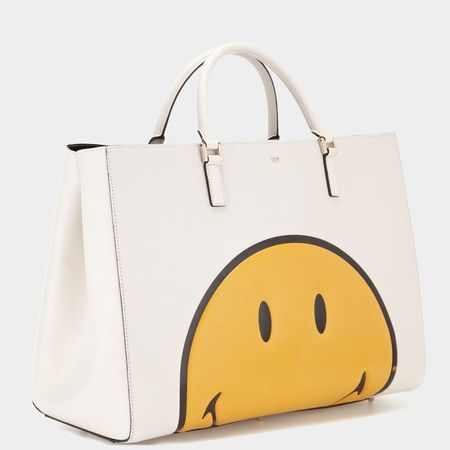 Ebury Maxi Featherweight Smiley - anya hindmarch pre autumn 2014 bags - shopping bag - handbag