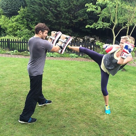 Celebrity mum workouts