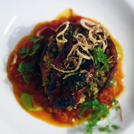Hyatt vegan restaurant review - london going out - vegan restaurants - where to eat vegan food - exterior - evening bag - handbag.com