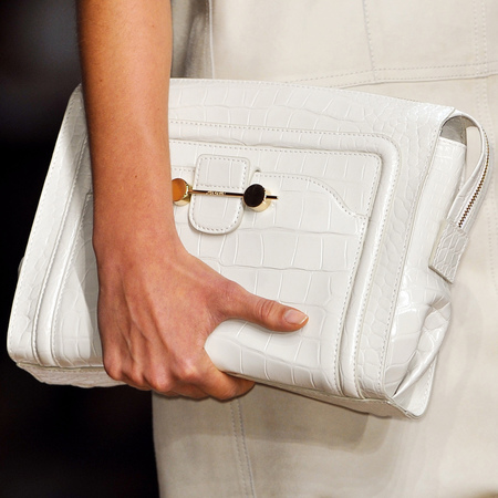 White Daphne clutch bag