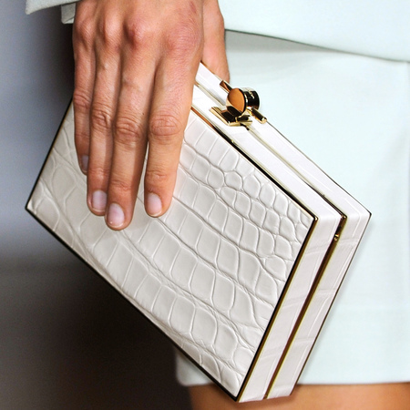 White Karlie clutch bag
