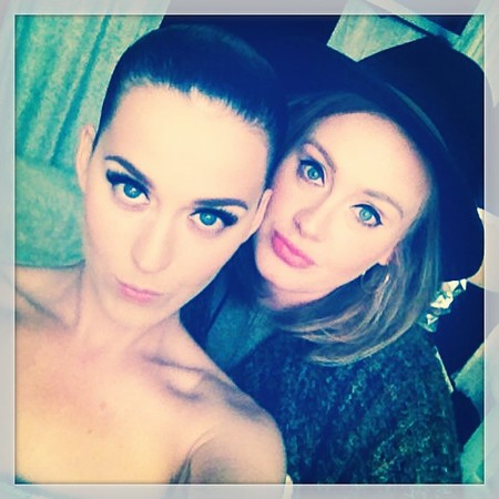 katy perry and adele selfie - weird celebrity friendships - day bag - handbag