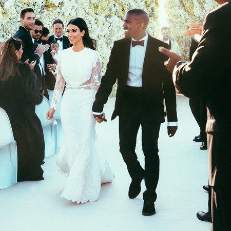 Kim Kardashian wedding dress - givenchy - riccardo tisci - handbag.com