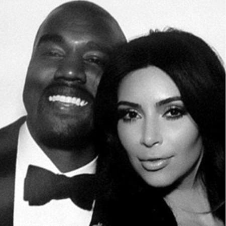 Kim and Kanye in the photobooth