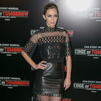 Emily Blunt nails the sheer trend