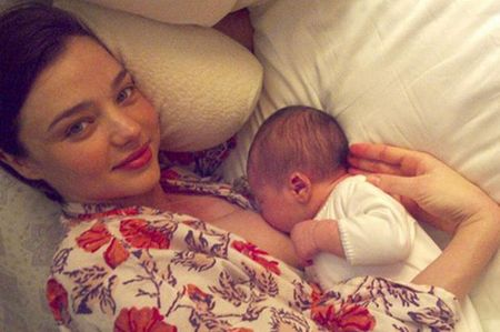 miranda kerr breastfeeding - natalia does a gisele - baby bag - handbag