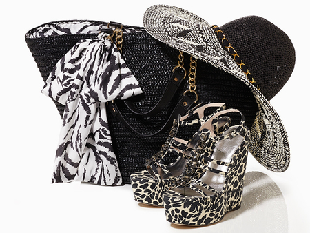 love by julien macdonald bag and hat - shopping bag - handbag