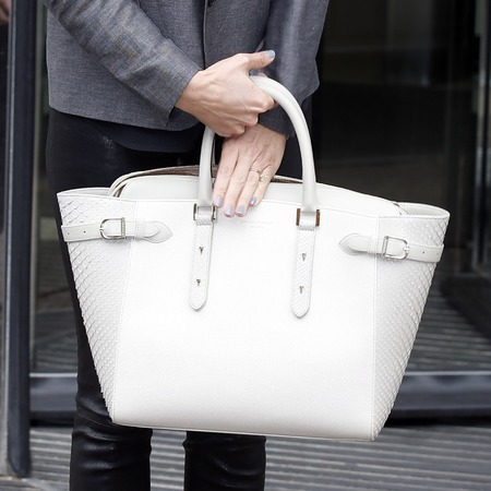 Cat Deeley's white Aspinal Marylebone bag