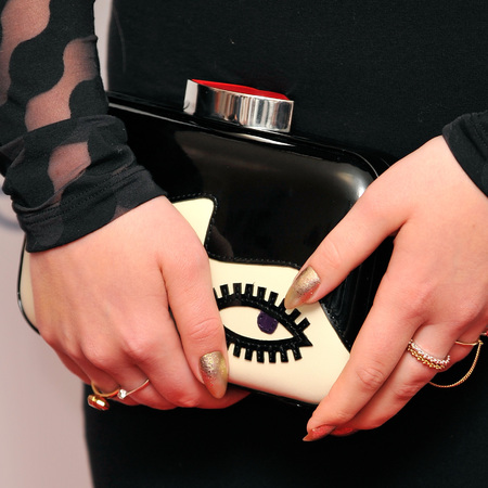 celebrity designer clutch bags-glamour women of the year awards 2014-ella henderson lulu guinness clutch bag-handbag.com