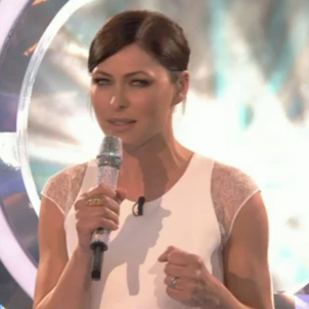 emma willis-big brother live launch summer 2014-white jumpsuit-celebrity fashion-handbag.com