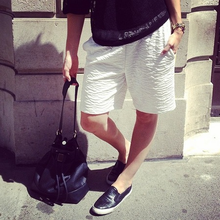 Fashion trial - basketball shorts - sports luxe - how to wear - skate shoes - handbag.com