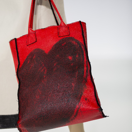graduate fashion week 2014-best new handbag designers-charles mclelland red heart tote bag-handbag.com