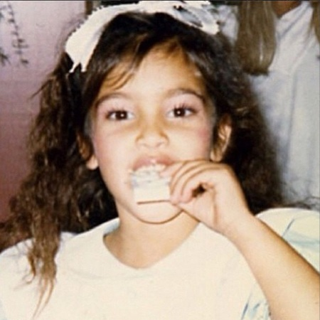 Kim Kardashian - awkward childhood photos - stylish celebrities - baby feature - baby news - handbag.com