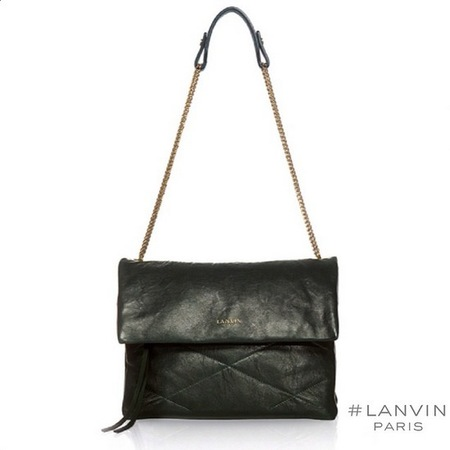 lanvin-new sugar handbag-leather shoulder bag-black-handbag.com