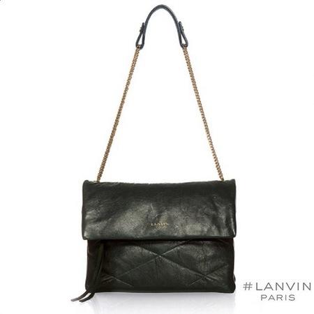 lanvin-new sugar handbag-leather shoulder bag-black-handbag.com