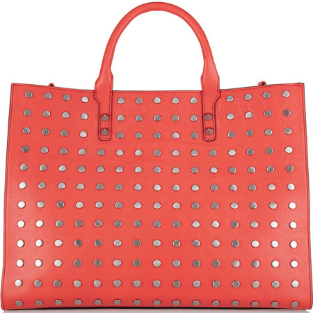 Rebecca Minkoff  red tote bag - red leather bag - designer handbag - shopping bag - best bags to buy - handbag.com