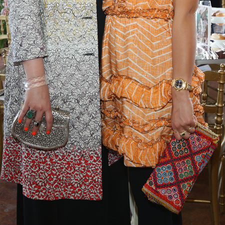 Teresa Maccapani Missoni and Margherita Missoni attend the Life Ball 2014-designer handbags-celebrity #handbagspy street style-handbag.com