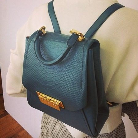 zac zac posen-backpack trend-green bag-resort 2015 collection-handbag.com