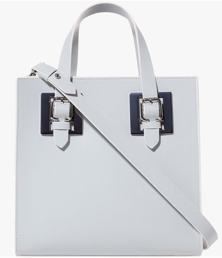Stradivarius new handbags - Zara sister brand to launch in the UK - cheap handbags - shopping news - white shopper with buckle - shopping bag - handbag.com