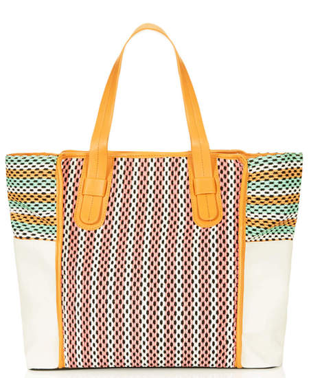 Topshop woven tote