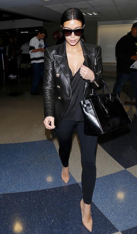 Kim Kardashian's black Birkin bag