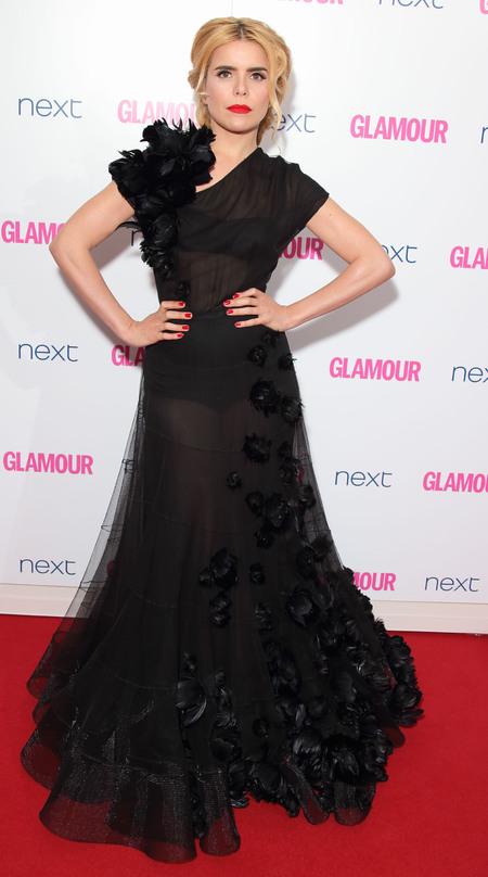 Paloma Faith at the Glamour Awards 2014 - Sheer black dress - designer black dress - fashion trends - fashion news - shopping bag - handbag.com