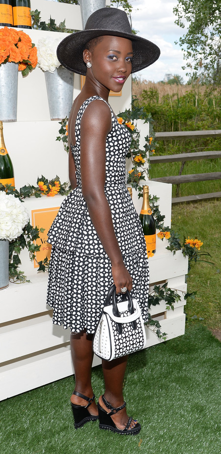Lupita Nyong'o does matchy-matchy monochrome trend
