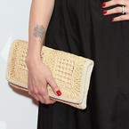 Fearne Cotton embraces straw bags